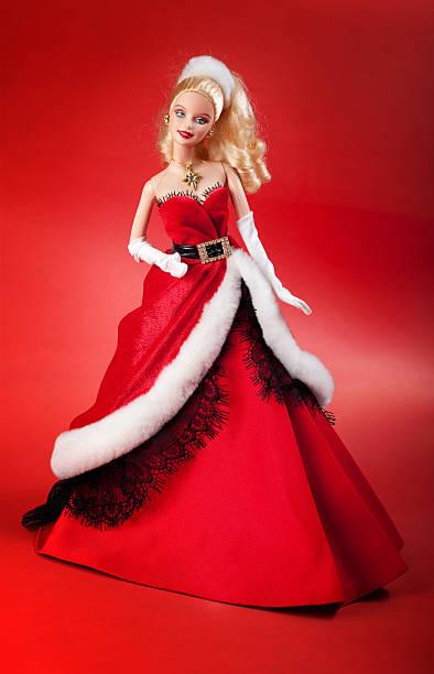 holiday barbie puppe - barbiekleidung stock-fotos und bilder