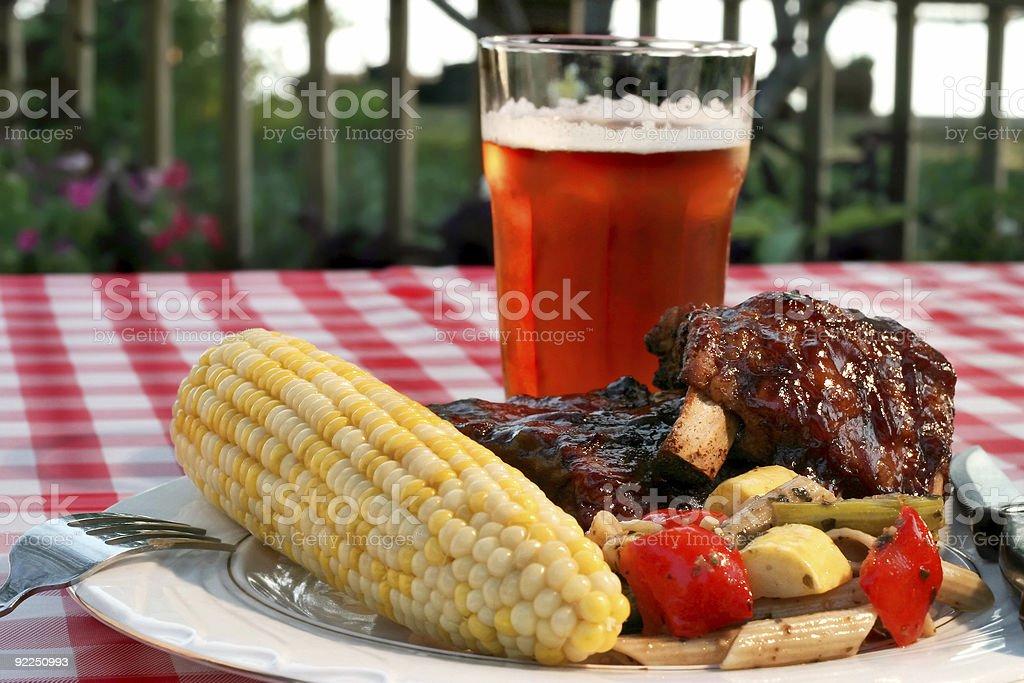 Holiday BBQ royalty-free stock photo