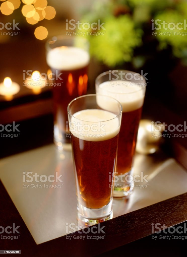 Holiday Beer royalty-free stock photo
