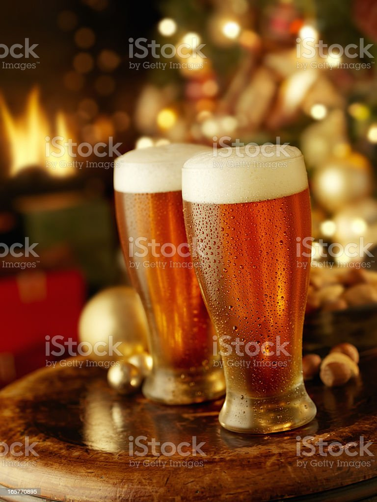 Holiday Beers royalty-free stock photo