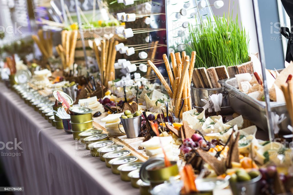 Holiday buffet table served by different canape sandwiches snacks holiday buffet table served by different canape sandwiches snacks ready for eating in restaurant watchthetrailerfo