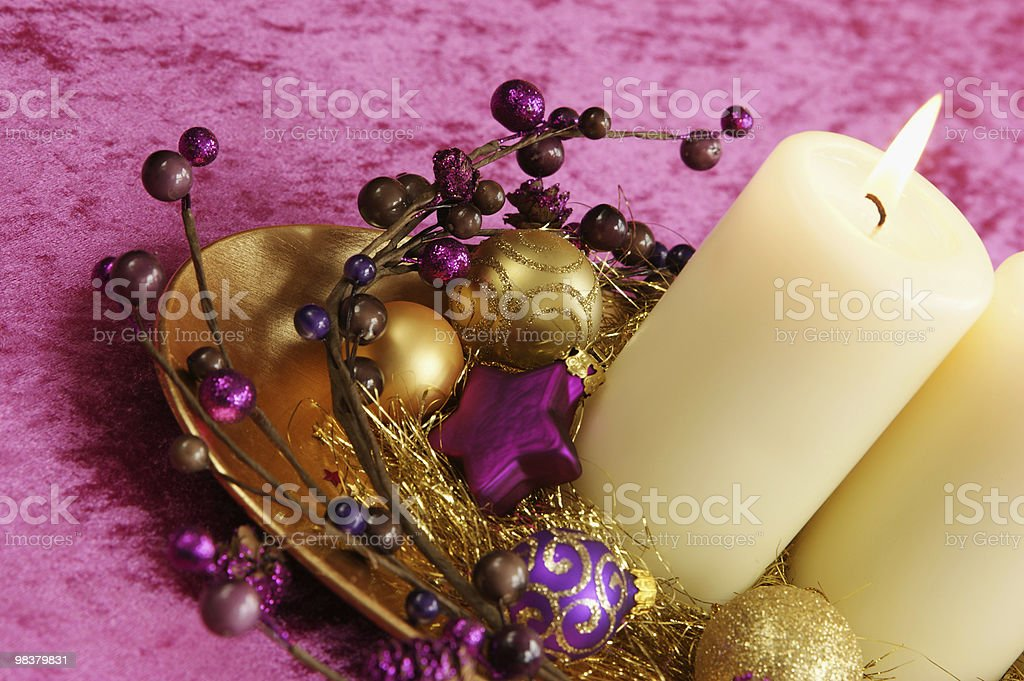 Holiday Candle royalty-free stock photo