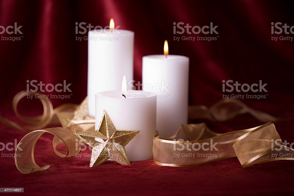 Holiday Candles (XXL) royalty-free stock photo