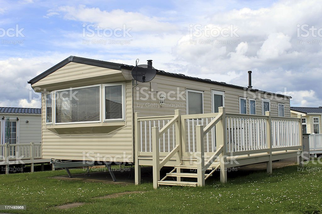 Holiday caravan or mobile home stock photo