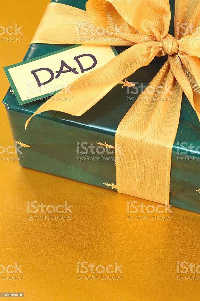 Holiday, Christmas, Father's Day Gift for Dad royalty-free stock photo