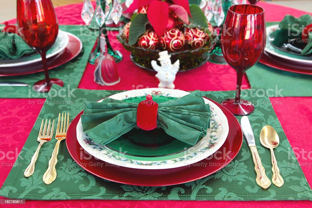 celebration event christmas christmas decoration christmas ornament decoration holiday christmas table setting in bright red and green - Red And Green Christmas Table Decorations