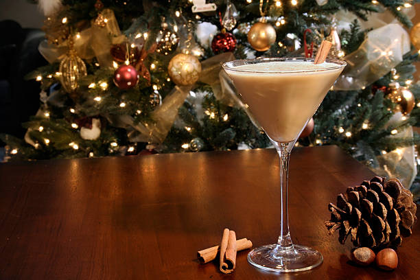 Holiday cocktail stock photo