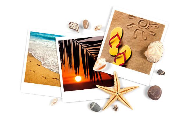 urlaub-konzept - salzwasser sandalen stock-fotos und bilder