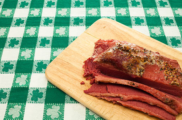 holiday corned beef - st patricks day food stock photos and pictures