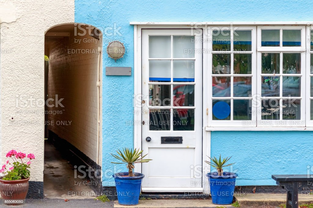 Holiday cottage in the popular seaside town Southwold of the UK stock photo