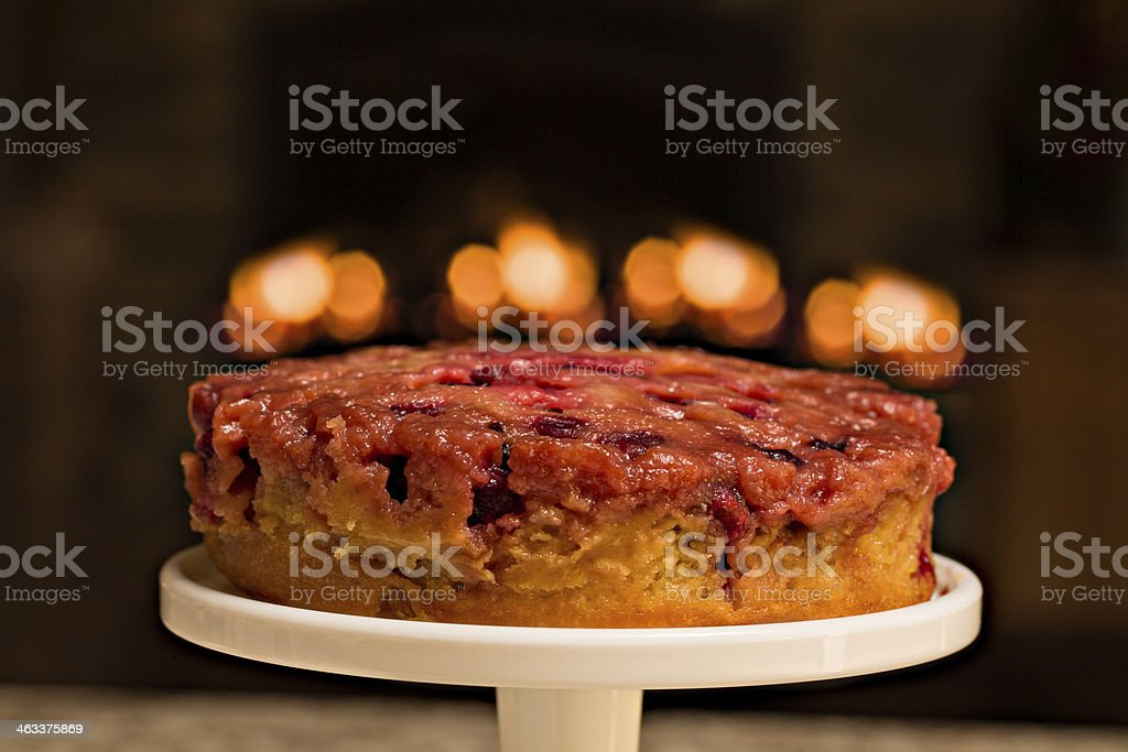 Holiday Cranberry Cake stock photo