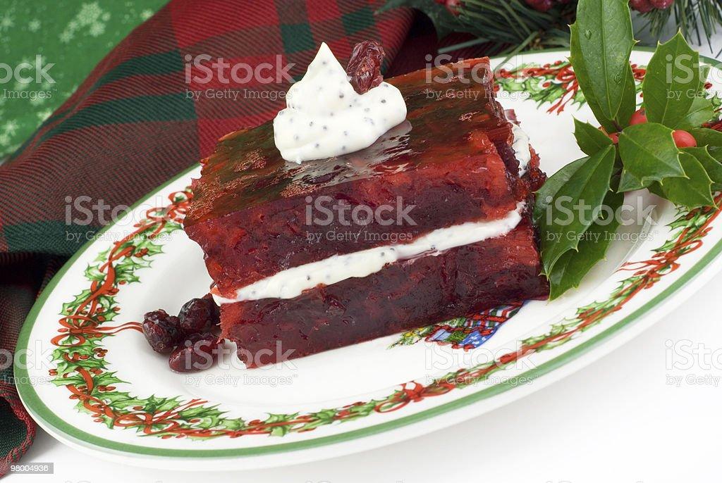 Holiday Cranberry Congealed Salad royalty-free stock photo