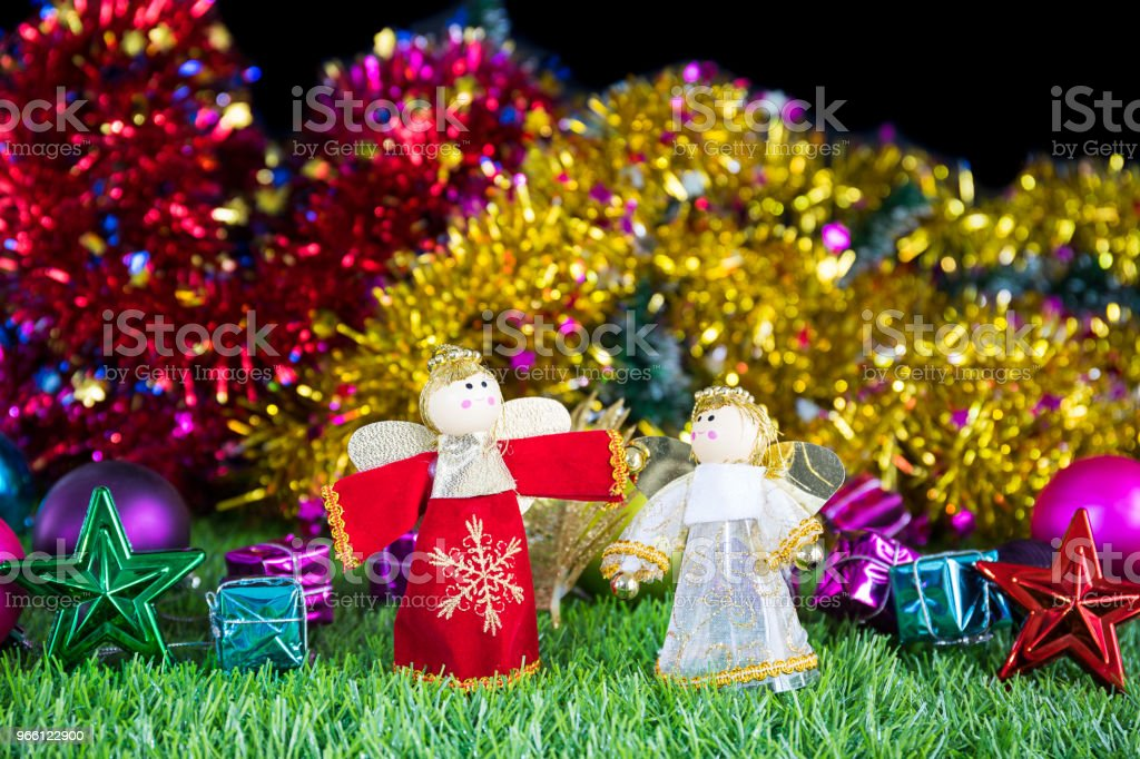 Holiday decoration on green grass - Royalty-free Branch - Plant Part Stock Photo