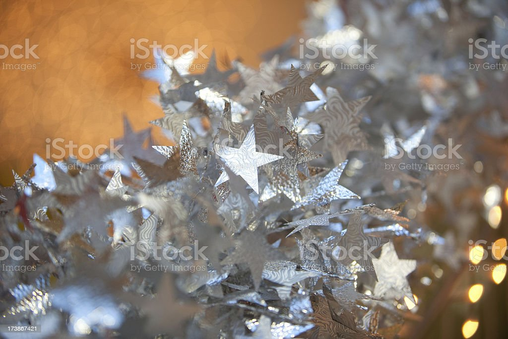 Holiday decoration: stars and lights royalty-free stock photo