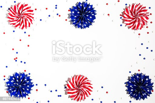 istock USA holiday decorations on a white background 697442478