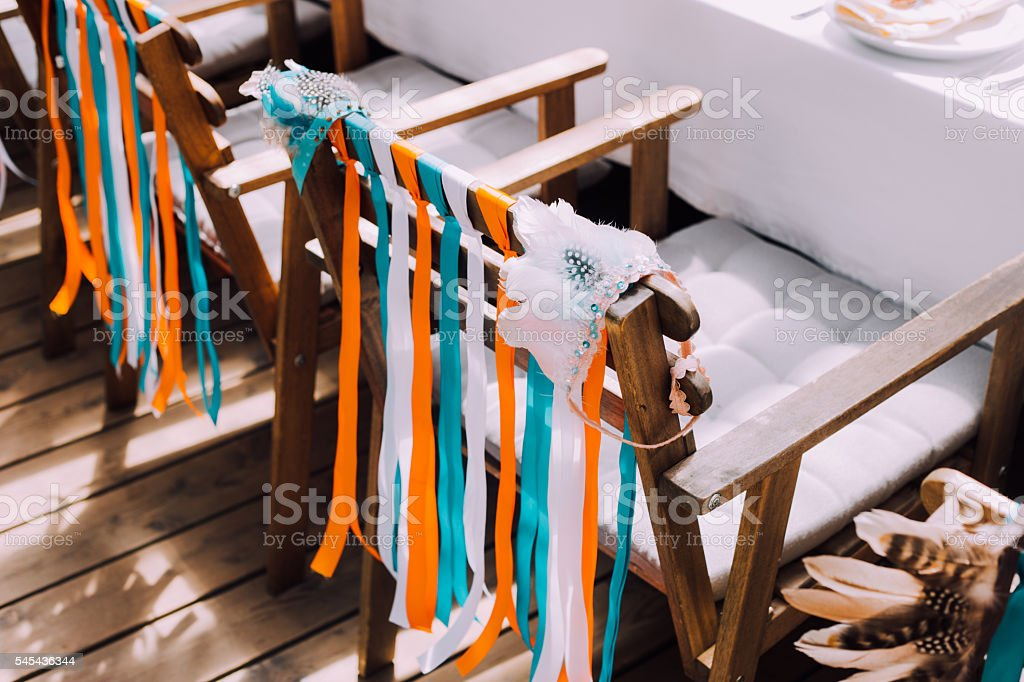 Holiday design for children's holiday in boho style stock photo