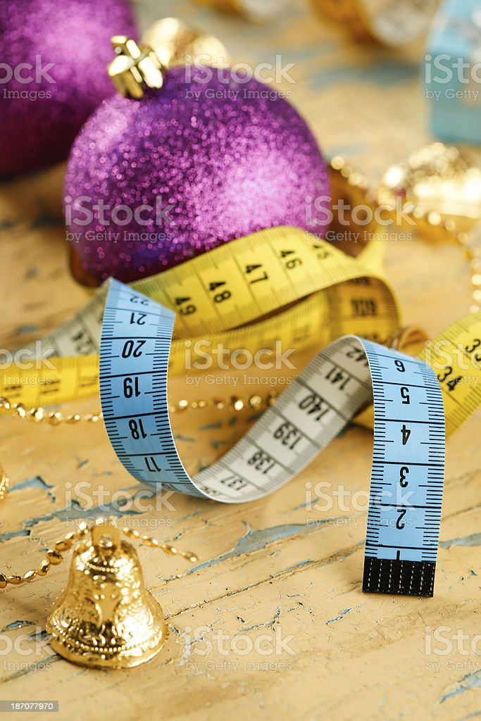 Holiday diet concept royalty-free stock photo