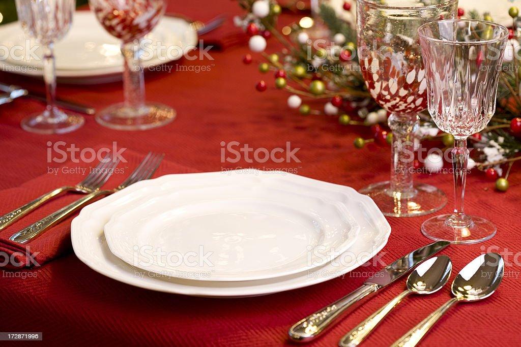 Lovely elegant holiday table setting.PLEASE