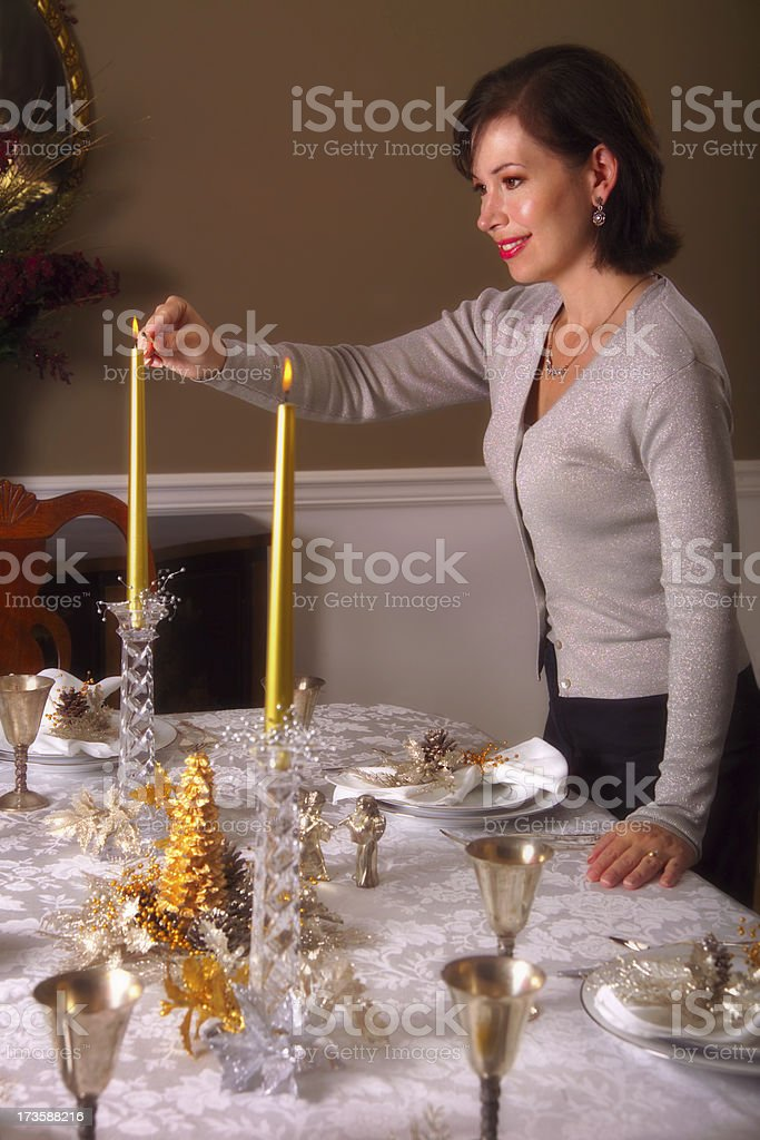 holiday dinner party royalty-free stock photo