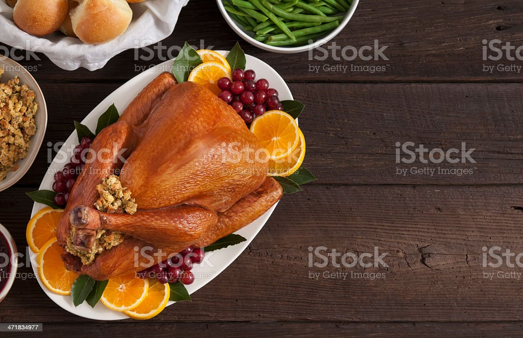 Holiday Dinner stock photo