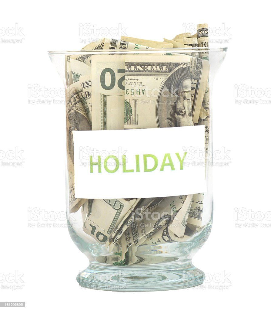 Holiday Dollar Savings in glass royalty-free stock photo