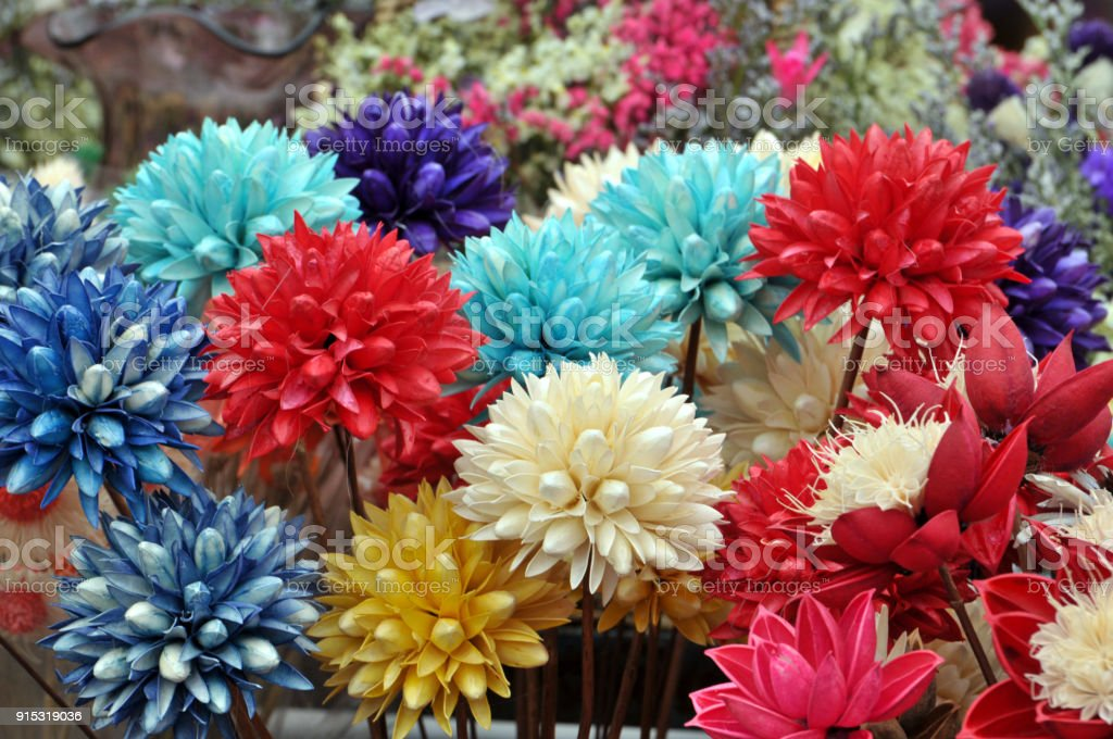 Holiday Dried Flower Bouquet For Sale Stock Photo & More Pictures of ...