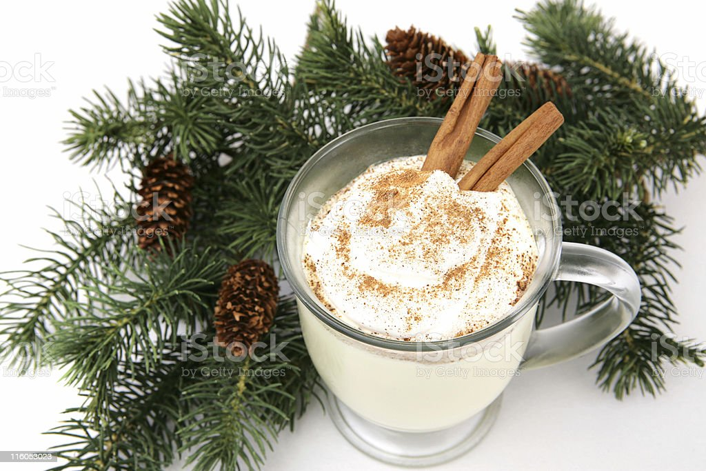 Holiday Eggnog royalty-free stock photo