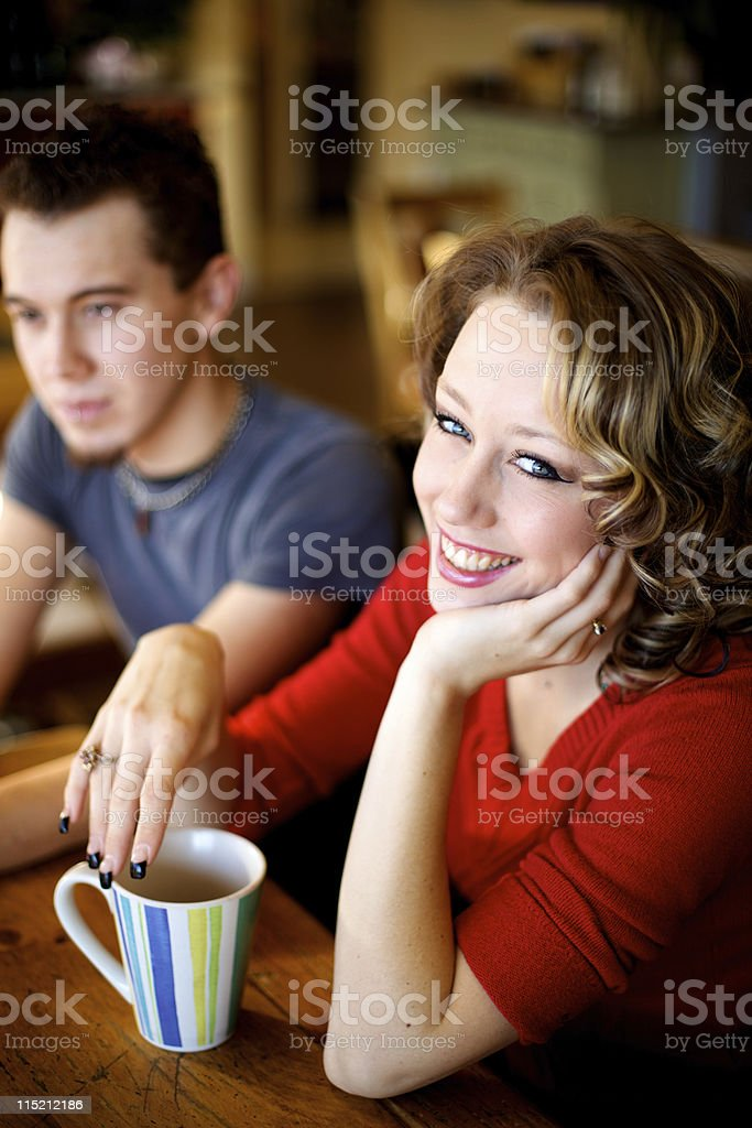 holiday espresso bar young adult royalty-free stock photo