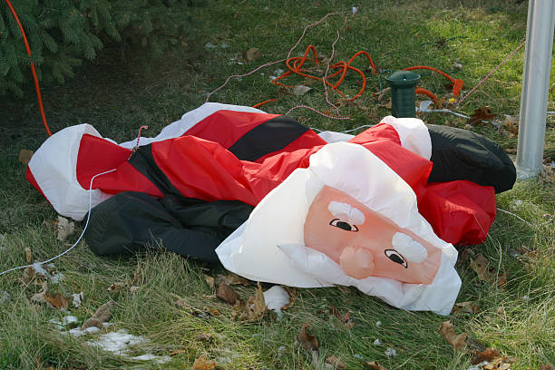Holiday Fatigue 1, Christmas Stress, Stressed Out Santa Claus stock photo