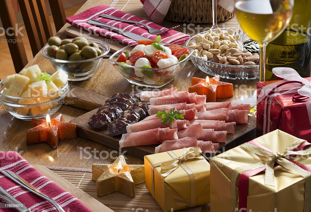 Holiday feast royalty-free stock photo