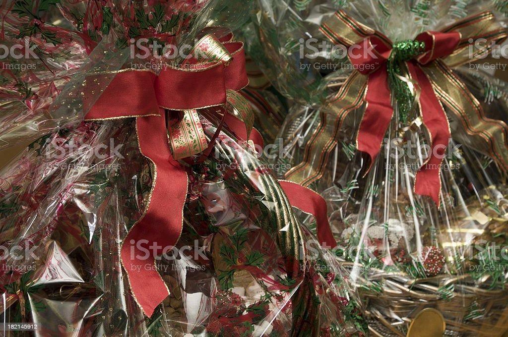 holiday gift baskets stock photo