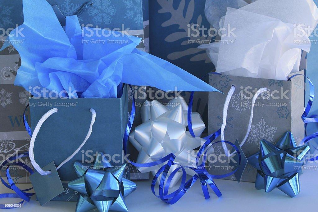 Holiday Gift Wrap royalty-free stock photo