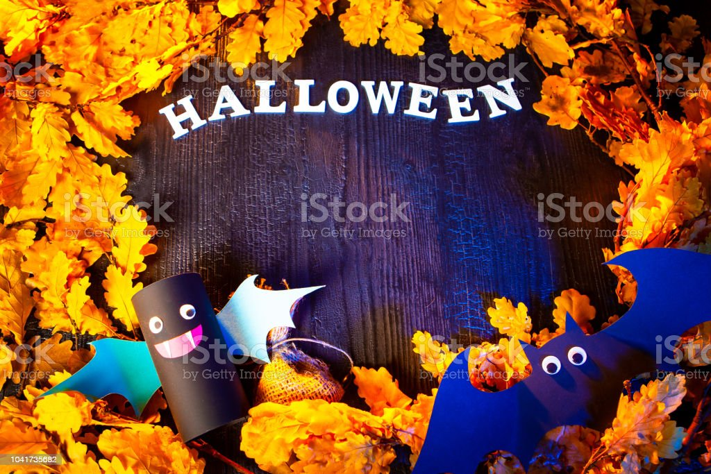 Holiday Halloween. Autumn holiday. Vampires against the background of...