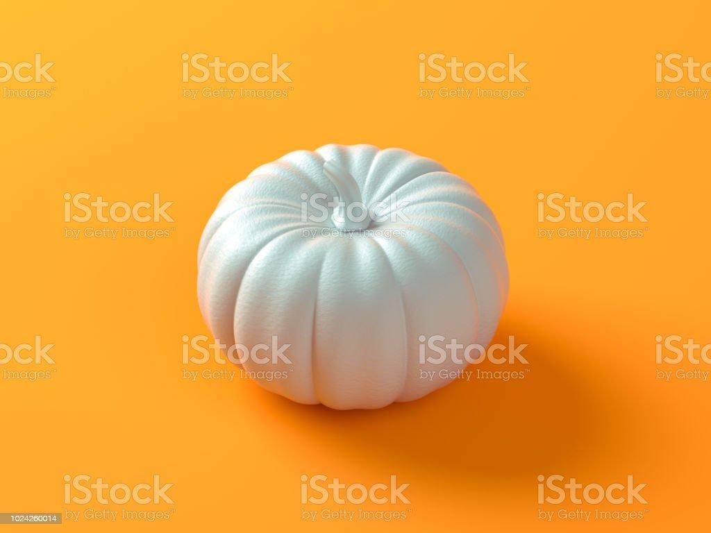 Holiday Halloween Banner With White Pumpkins On Orange