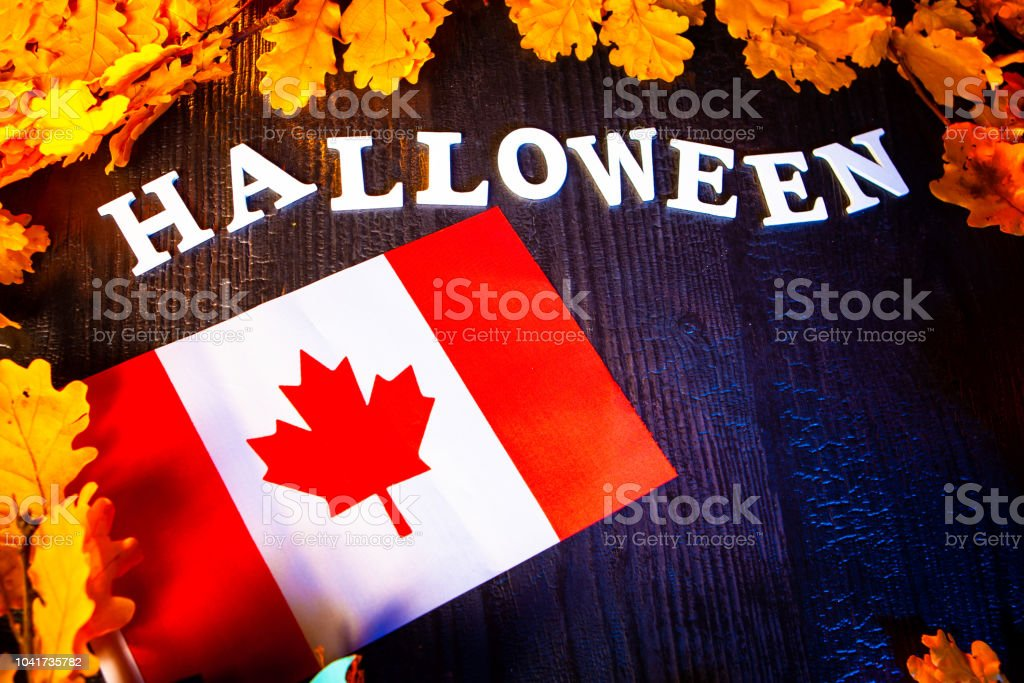 Holiday Halloween. Canada. Autumn holiday. Vampires against the...