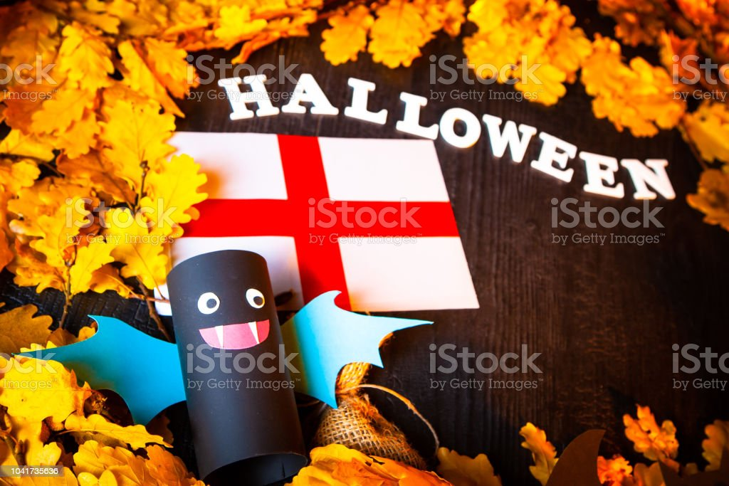 Holiday Halloween. England Autumn holiday. Vampires against the...