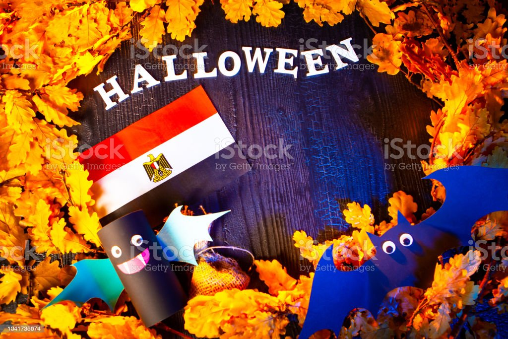 Holiday Halloween. Libya. Autumn holiday. Vampires against the...