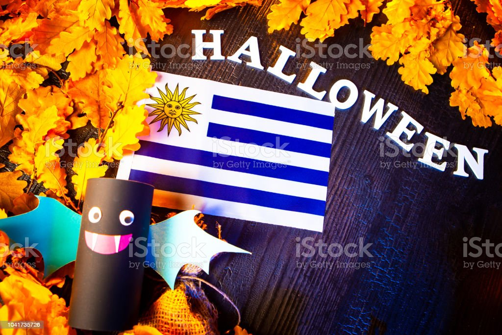 Holiday Halloween. Uruguay. Autumn holiday. Vampires against the...