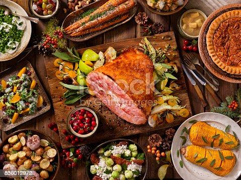 Maple Ham Turkey Dinner