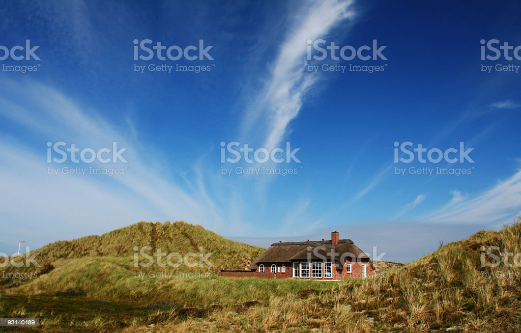 Holiday home in denmark royalty-free stock photo