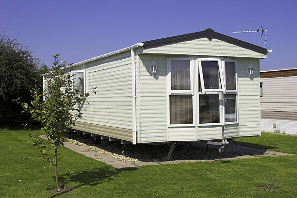 Holiday Home A static caravan holiday home trailer park stock pictures, royalty-free photos & images