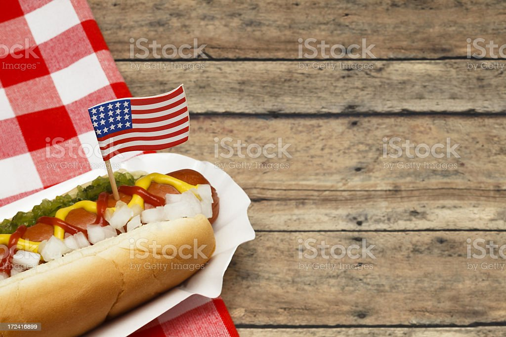 Holiday Hotdog stock photo