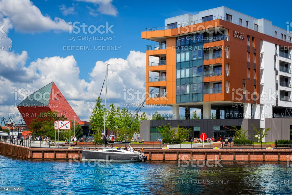 Holiday in Gdansk, Poland stock photo