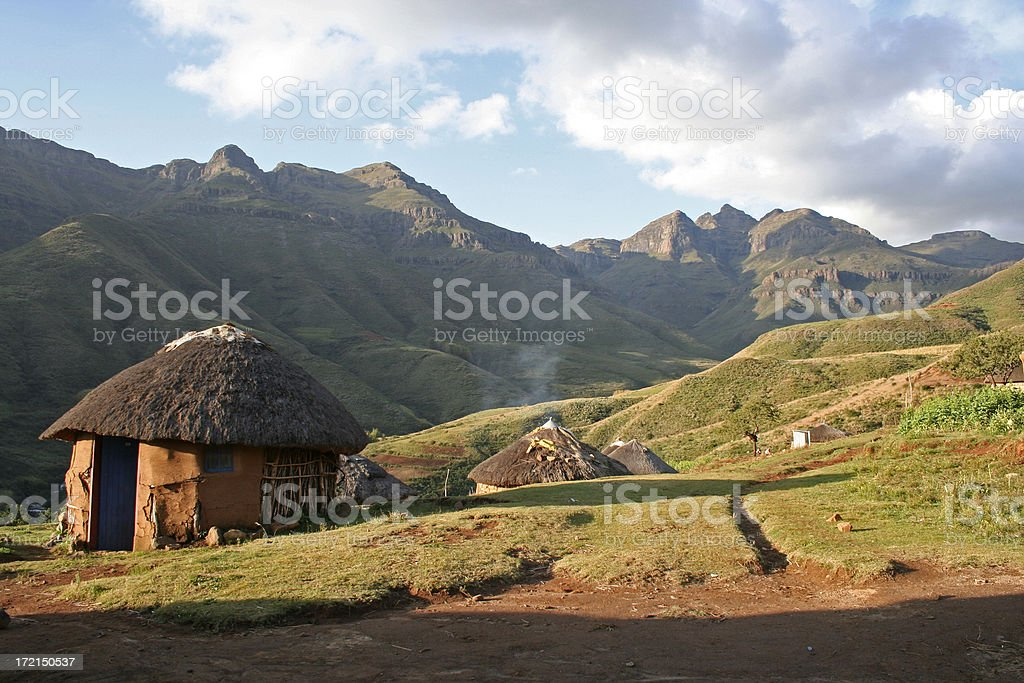 Holiday in Lesotho stock photo
