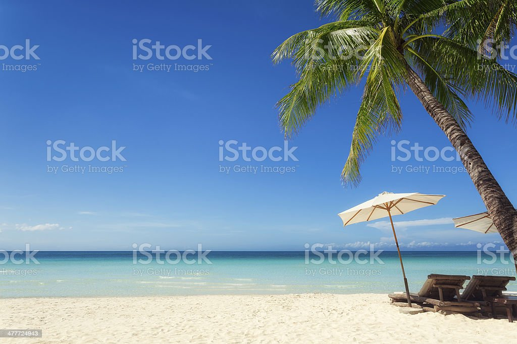 Holiday in the sun stock photo