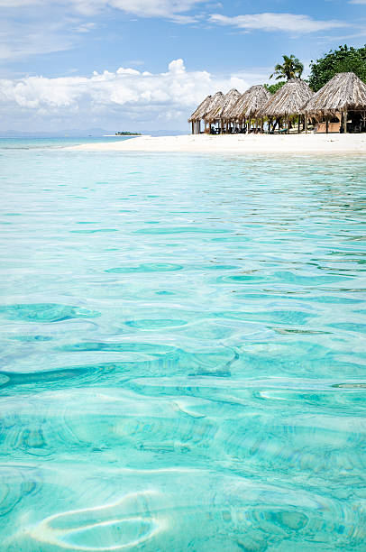 holiday island destination - fiji stock photos and pictures