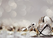 A stock photo of close-up holiday bells