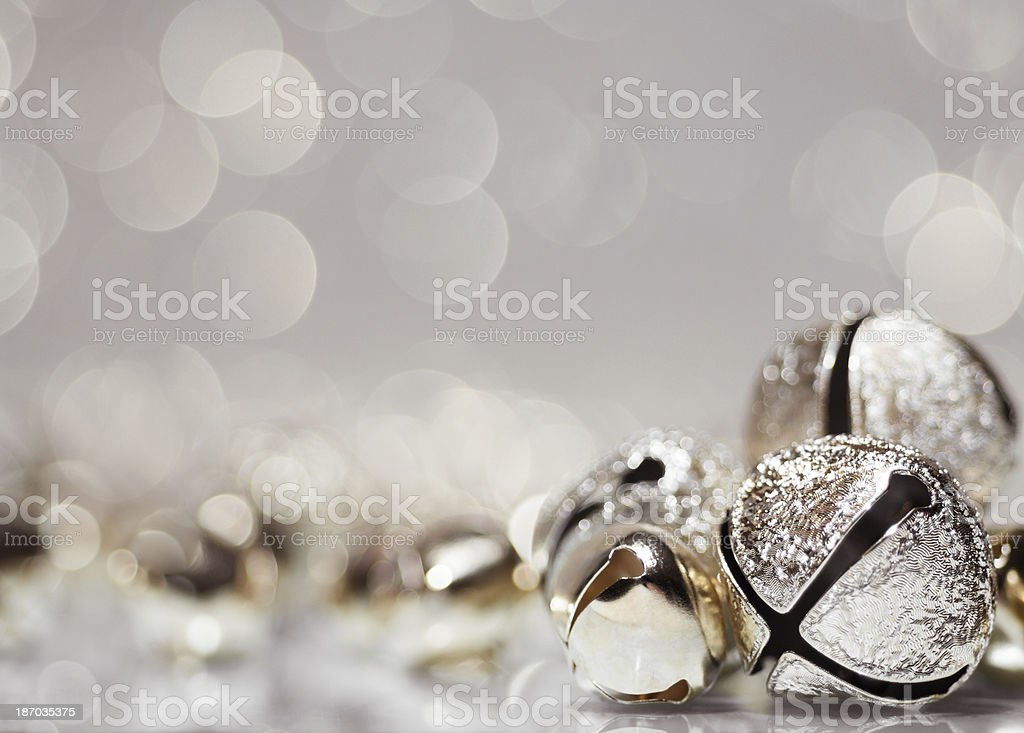 Holiday jingle bell background stock photo
