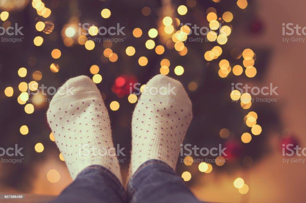 Holiday joy stock photo