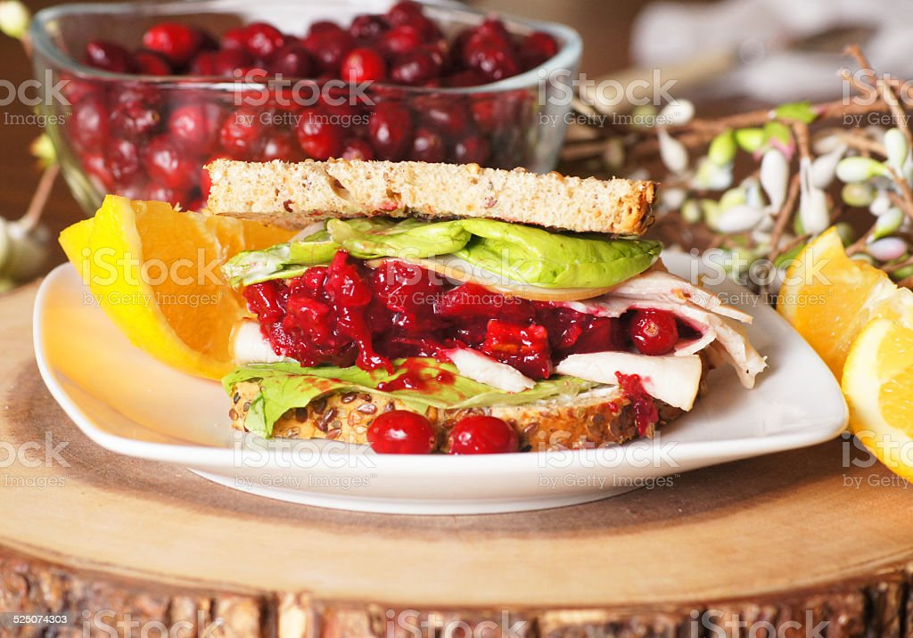Holiday Leftover Sandwich stock photo